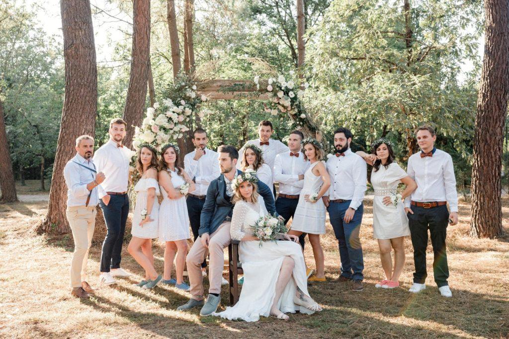 photographe mariage bordeaux cap ferret arcachon photo groupe tendance moderne