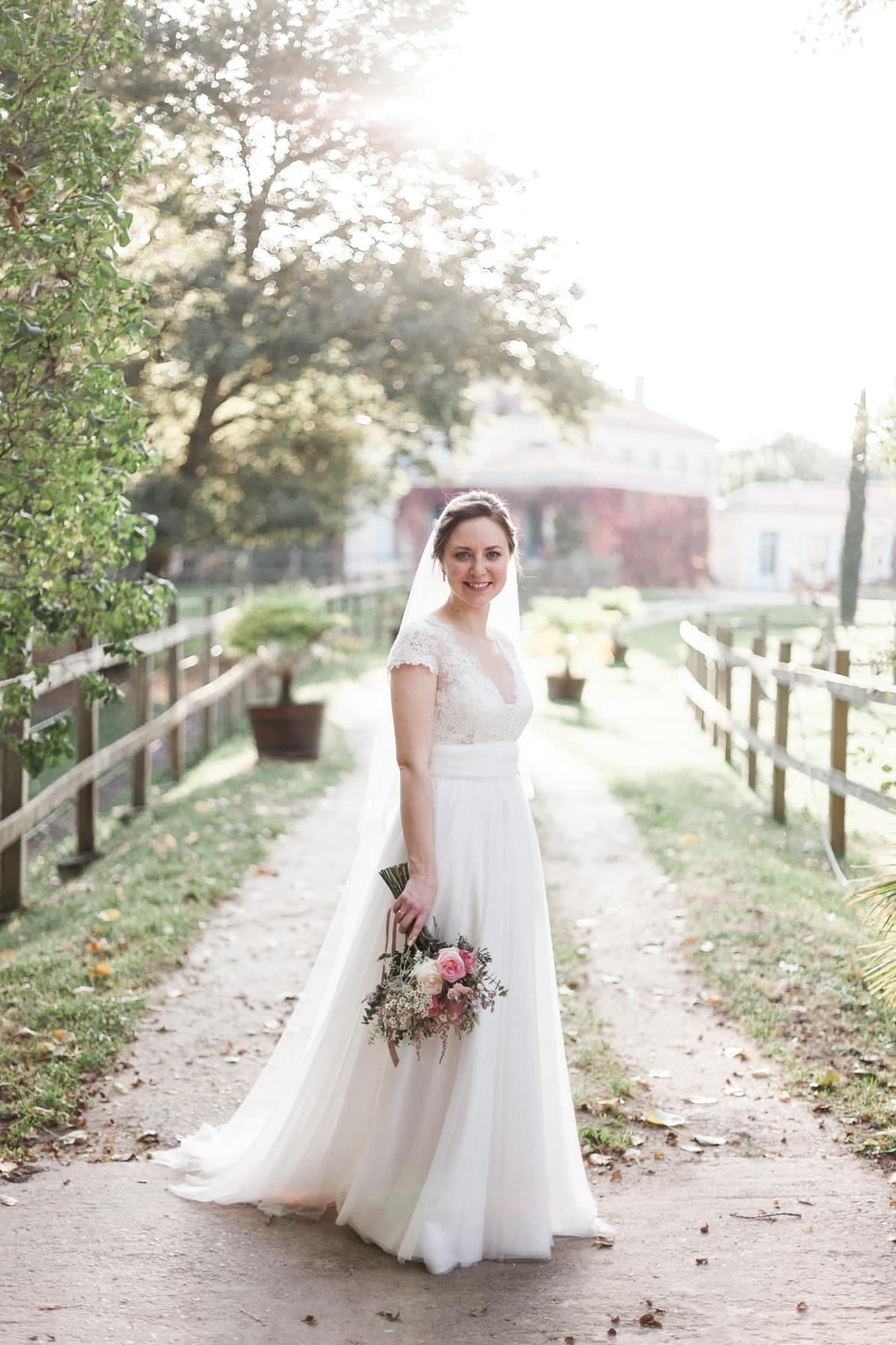 photographe mariage pastel bordeaux dordogne chateau de l'isle medoc rose pale blush avril mai 018