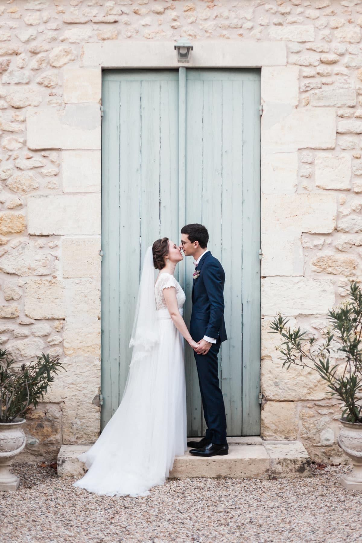 Mariage pastel franco russe à Bordeaux : photo de couple