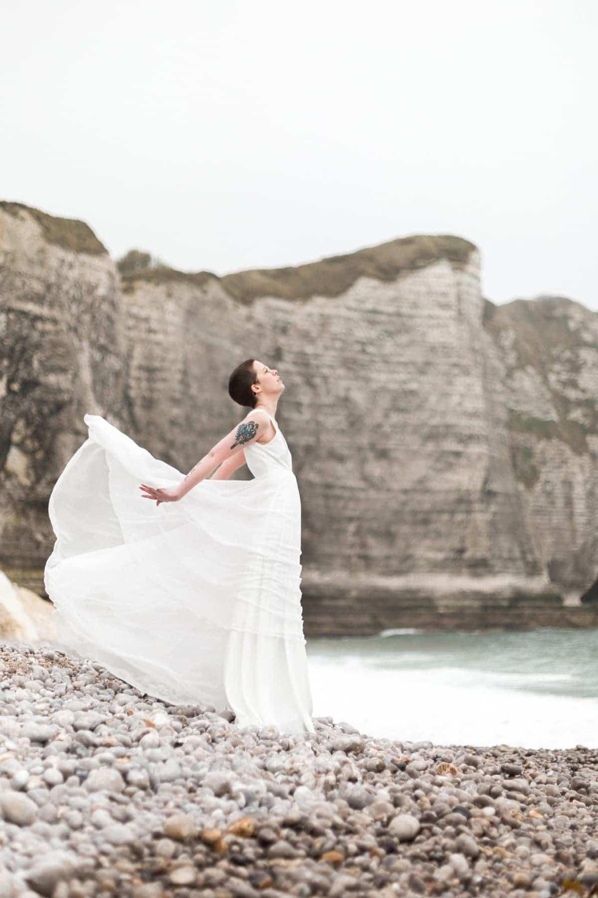 Robe de mariée de créatrice : liberté et volupté