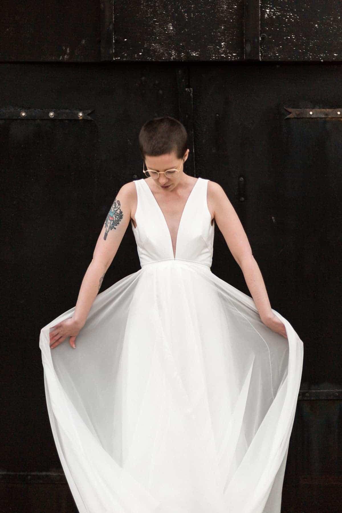 Robe de mariée fluide et légère