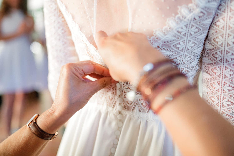 robe de mariée en dentelle Eleonore Pauc créatrice de robes de mariée sur mesure à Bordeaux