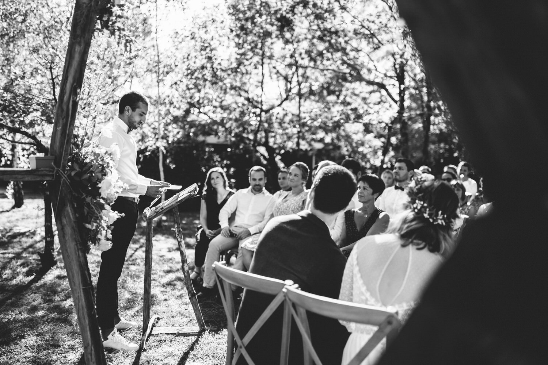 temoin intervenant à la cérémonie laique de mariage