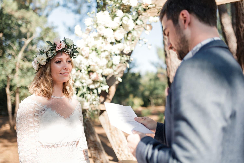 echange de voeux du marié en cérémonie laique