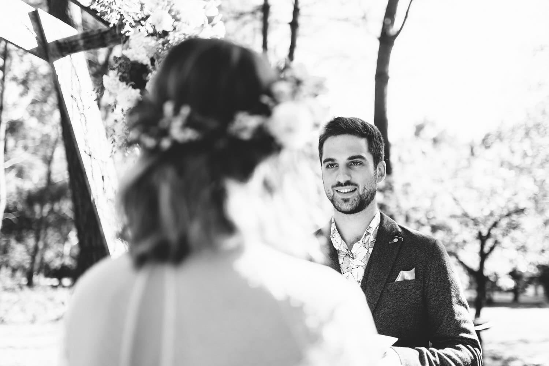 les voeux de la mariée pendant la cérémonie laique