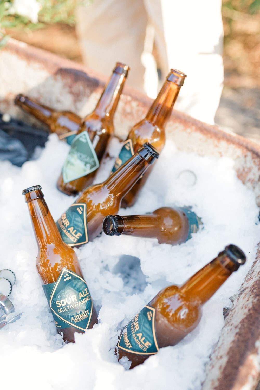 stand biere sur mariage décontracté