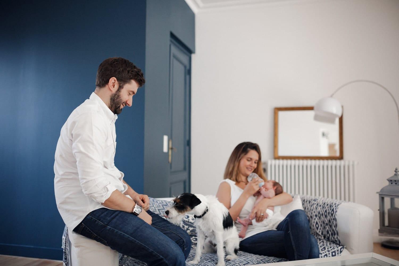 photo lifestyle de famille avec Bébé